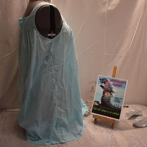 croft & barrow Intimates & Sleepwear - NWOT Large Croft & Barrow Blue Lace Trim Sleeper
